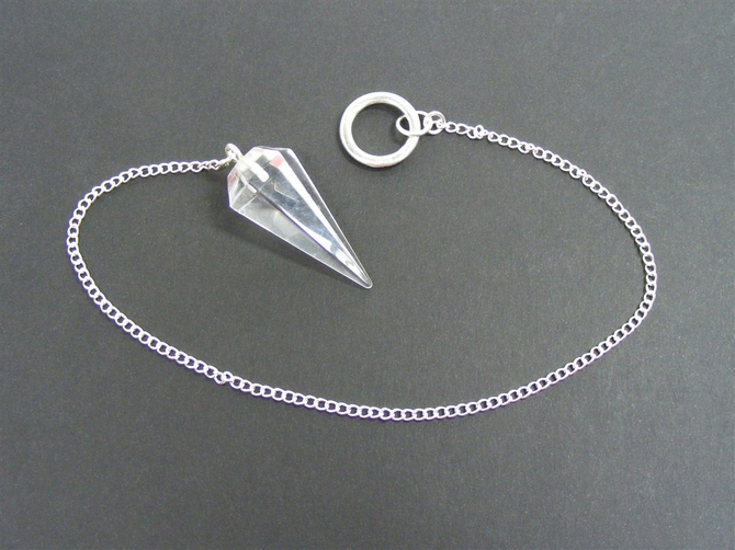 Pendulum with Clear Quartz, 6 Sided