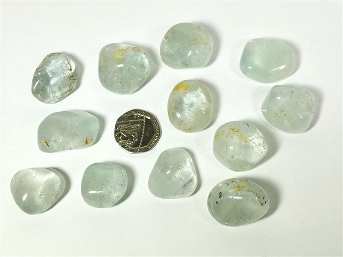 Topaz - Blue, Tumble Stone