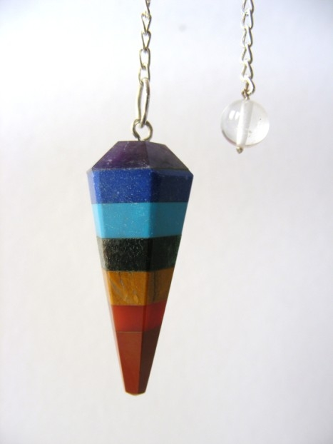 pendulum with chakra stone he hi she lo crystals