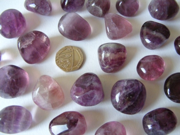 Fluorite - Purple, Tumble Stone