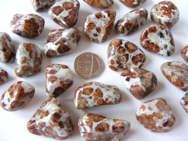 Garnet - Spessartine in Limestone, Tumble Stone