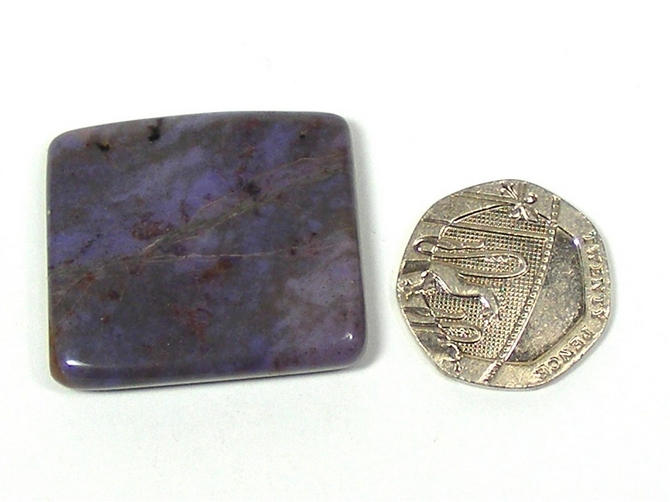 Purple Jade Polished Slice No7