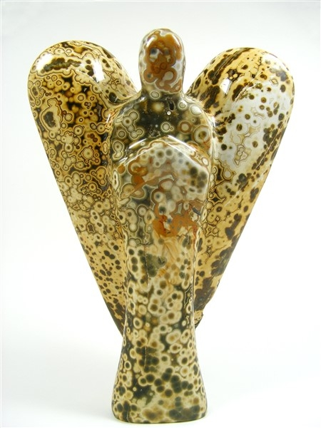 Large Ocean Jasper Angel, 200mm Tall
