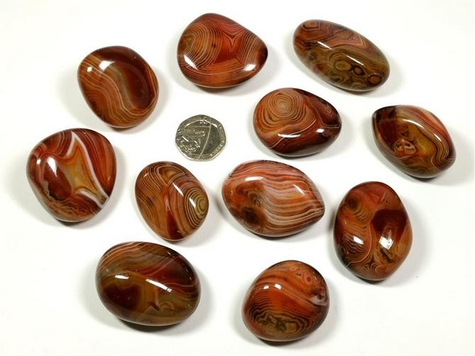 Agate - Madagascar Banded Silk, Tumble Stone