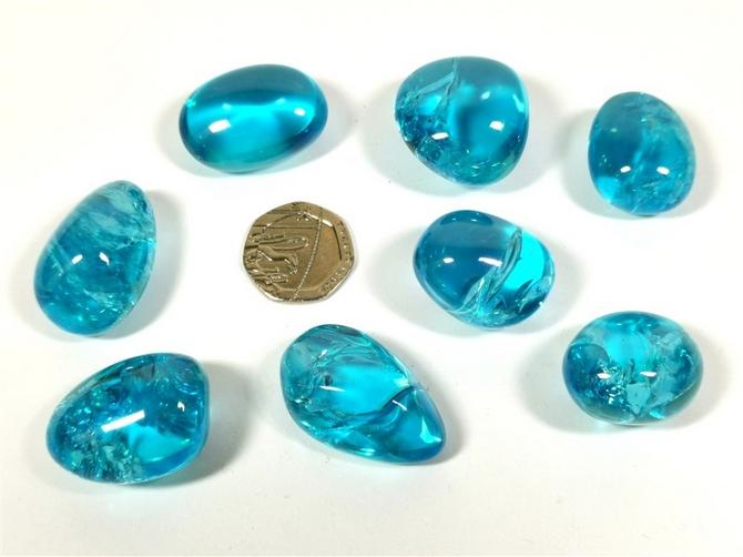 Quartz - Paraiba Aura, Tumble Stone