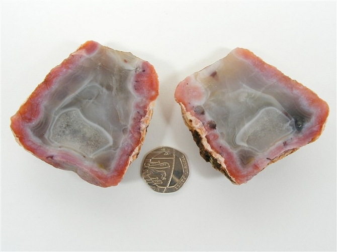 Moroccan Agate Geode. You Get Both Pieces !