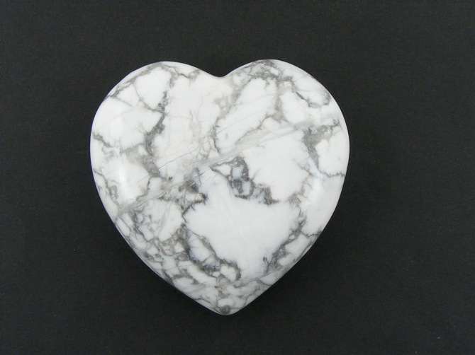 Large 60mm Howlite Heart No1