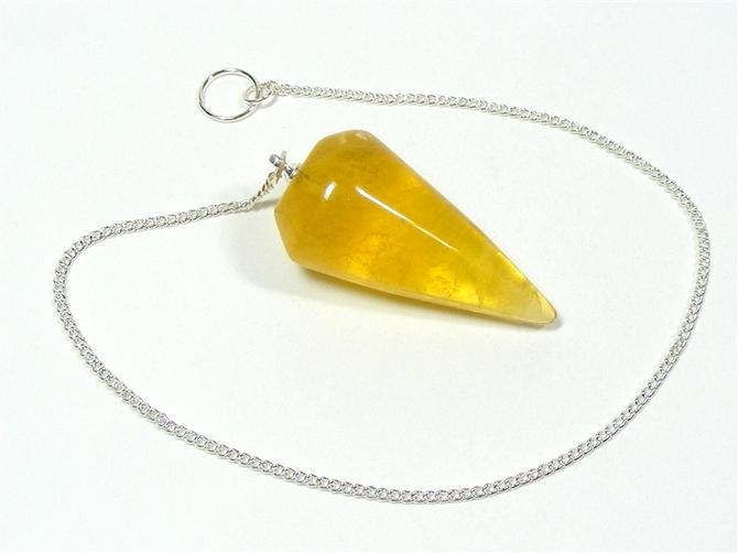 Pendulum with Yellow Fluorite