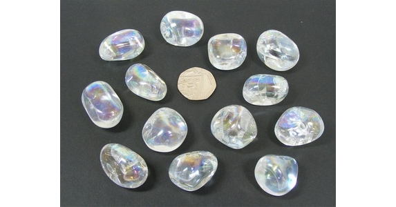 Quartz - Angel Aura, Tumble Stone