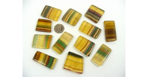 Argentina Fluorite Polished Slices