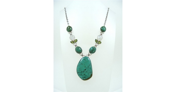 Large Turquoise Multi Stone Necklace