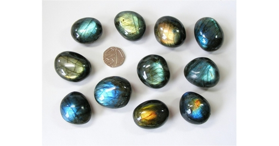 Labradorite Extra Quality Tumble Stone, Good Colour Flash