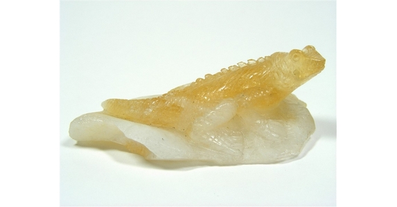 Citrine Lizard Carving