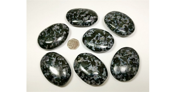 Indigo Gabbro (aka Mystic Merlinite) Palm Stone