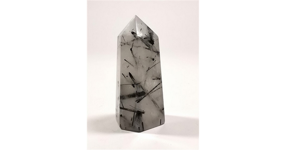 Tourmalinated Quartz Obelisk No4