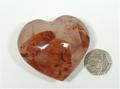 Hematoid Quartz Heart No2 - 60mm
