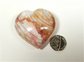 Banded Flint Heart No2 - you will receive this exact heart