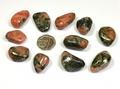 Triplite with Pyrite Tumble Stone