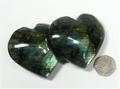 Labradorite Double Heart - 100mm