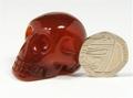 Mini Carnelian Skull - 36mm, 32grms