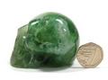Green Fluorite Skull - 60mm, 179grms